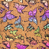 Colored butterflies pattern Cork fabric COF-385