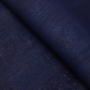 Dark blue Portuguese cork fabric  COF-128