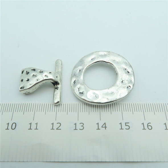 5pcs hook clasp for 10mm leather, antique silver jewelry finding supply D-6-71