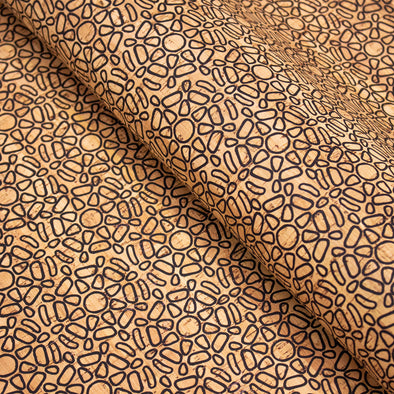 Geometric modeling patterned with ethnic orange and brown designs COF-399