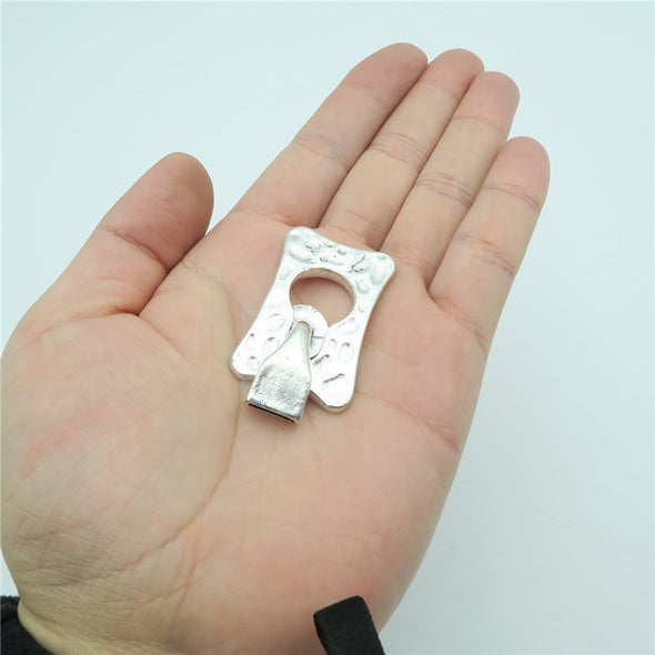 5pcs hook clasp for 10mm flat leather claps Antique sliver jewelry finding supply D-6-76