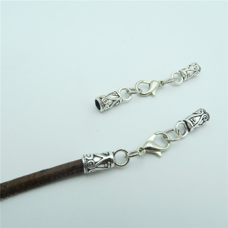 20pcs Lobster clasp for 3mm leather, antique silver, jewelry finding supply D-6-79
