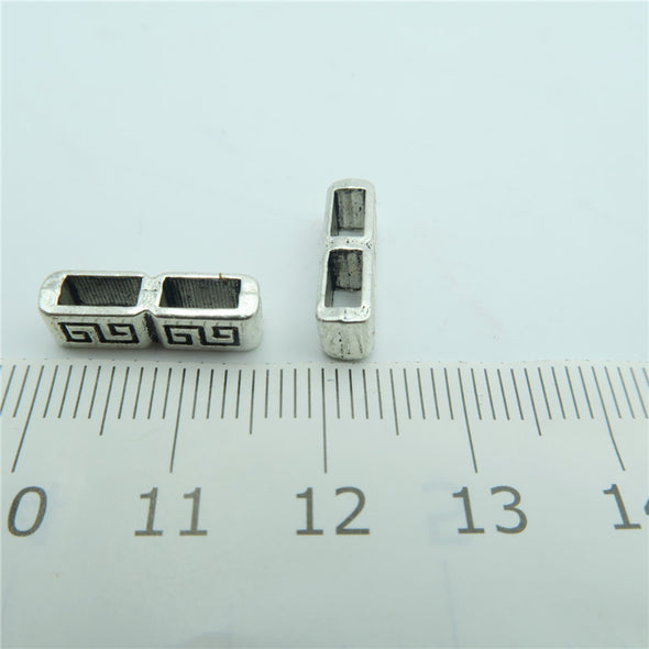 20pcs For 5mm flat leather separator slider, antique silver, jewelry finding supplies D-1-16