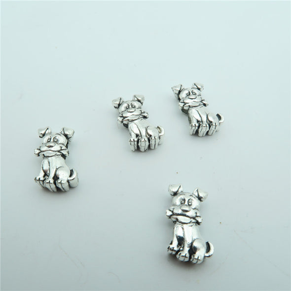 10 Pcs for 10mm flat leather,Antique Silver Dog jewelry supplies jewelry finding D-1-10-112