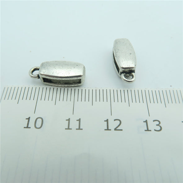 20pcs For 10mm flat leather, antique silver bali beads holder, jewelry finding supplies D-1-10-117