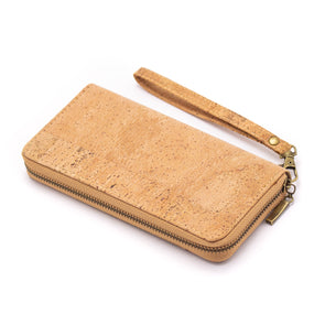 All natural cork lady zipper wallet card women vegan wallet Bag-324-F