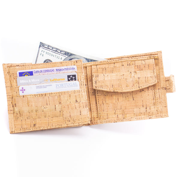 Natural/Brown Cork Wallet for Men BAG-200