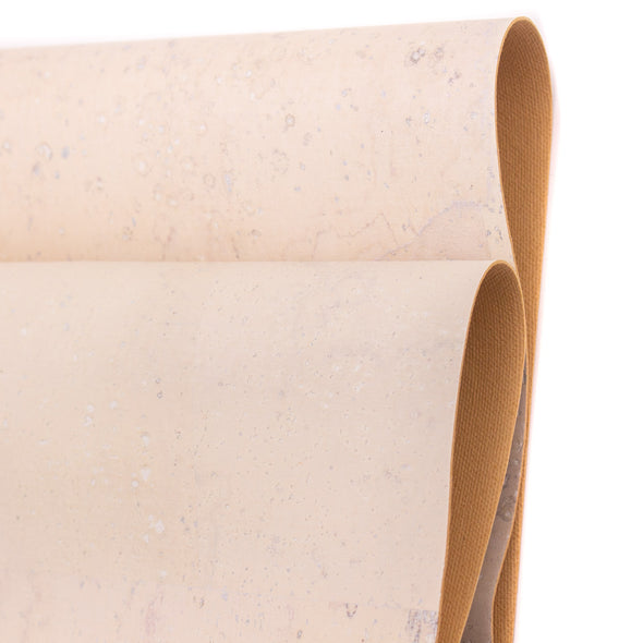 White cork fabric textile sheet COF-423