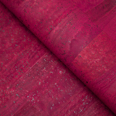 Wine Red Portuguese cork fabric COF-130