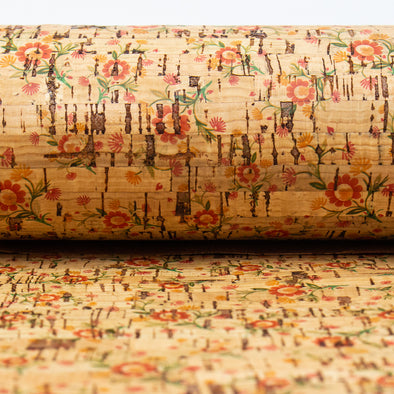 Flower pattern Cork fabric COF-182