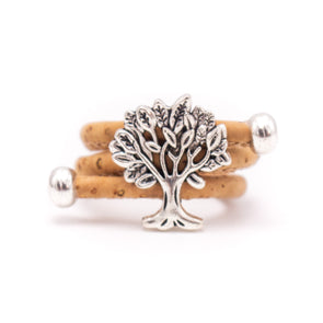 MB Cork Portuguese cork Tree of life cork women Ring soft original, adjustable handmade R-009
