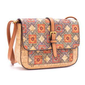 Cork crossbody bag cork with Random Pattern women bag BAGD-186