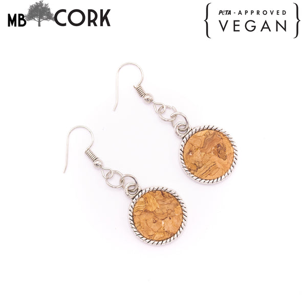 Cork earrings ER-025-CDE