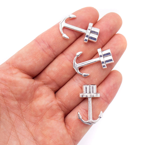 10 Units For3mm leather clasp, for 3mm round antique silver snap clasp jewelry finding D-6-260