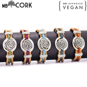 Cork jewelry cork bracelet for women colorful Cork handmade Original bracelet PB-011-MIX-5