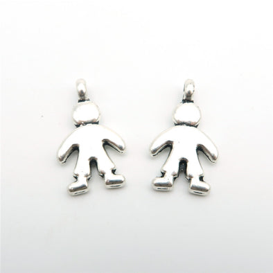 20pcs Small cute boy pendants antique silver boy son zamak jewelry finding D-3-62