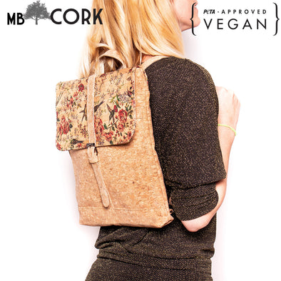 Cork Laptop backpack natural cork pattern Briefcase backpack BAG-619