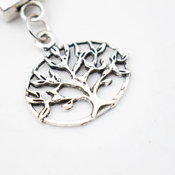 Tree of life Simple style natural cork handmade  keychain  I-025-A