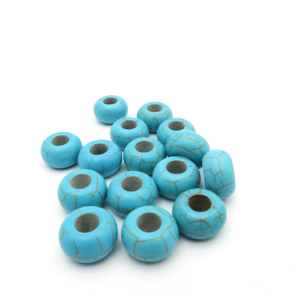20 units for 5mm round blue turquoise beads jewelry supplies jewelry finding D-5-5-37