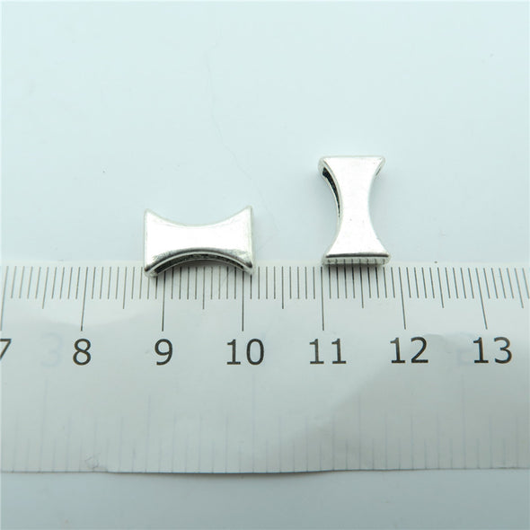 20 Pcs for 10mm flat leather, Antique Silver slider  beads jewelry supplies jewelry finding D-1-10-127