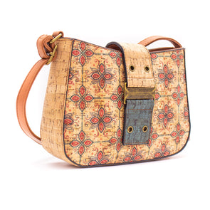 Cork Bag Made With Cork Fabric | Vegan Leather Crossbody BAGD-182-D