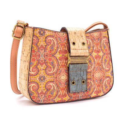 Cork Bag Made With Cork Fabric | Vegan Leather Crossbody BAGD-182-J