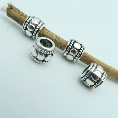 40 Pcs for 3mm round leather Antique Silver small beads jewelry supplies jewelry finding D-5-3-23