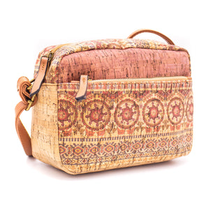 Cork Bag Made With Cork Fabric | Vegan Leather Crossbody BAGD-178-F