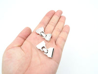 10Pcs for 15mm Flat leather snap clasp, Antique Silver jewelry supplies jewelry finding D-6-23