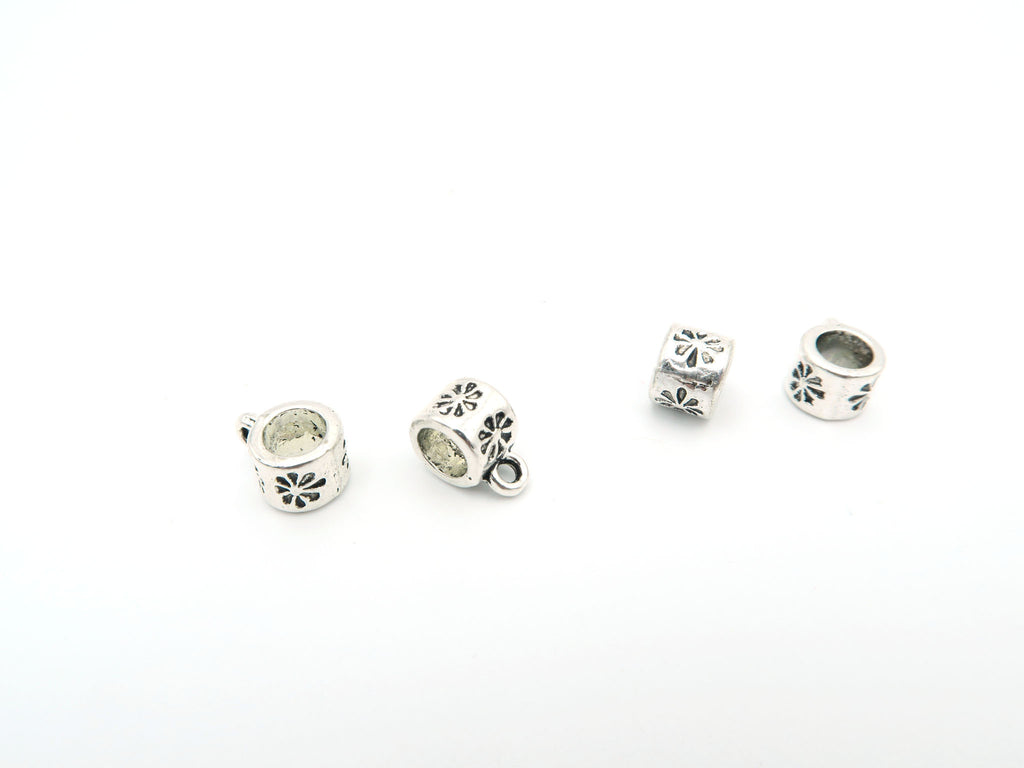 20Pcs for 5mm round leather Antique Silver holder beads, bali beads , jewelry supplies jewelry finding D-5-5-35