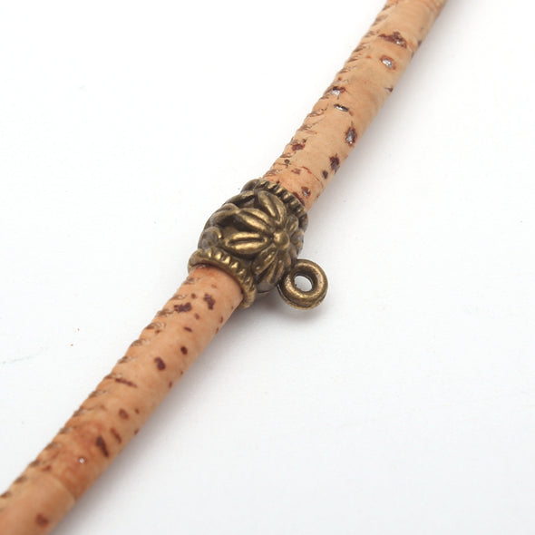 20 Pcs for 3mm round leather Antique Bronze  holder beasds, bali beads, jewelry supplies jewelry finding D-5-3-45