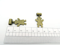 10 Pcs Antique Brass Girl jewelry supplies jewelry finding D-5-3-1