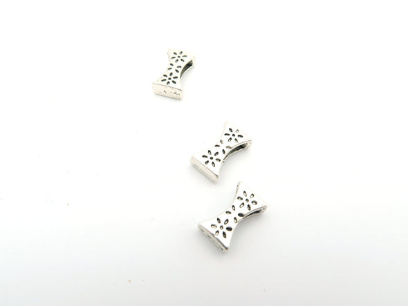 20 Pcs For 10mm flat leather,Antique Silver Flower slide  jewelry supplies jewelry finding D-1-10-8