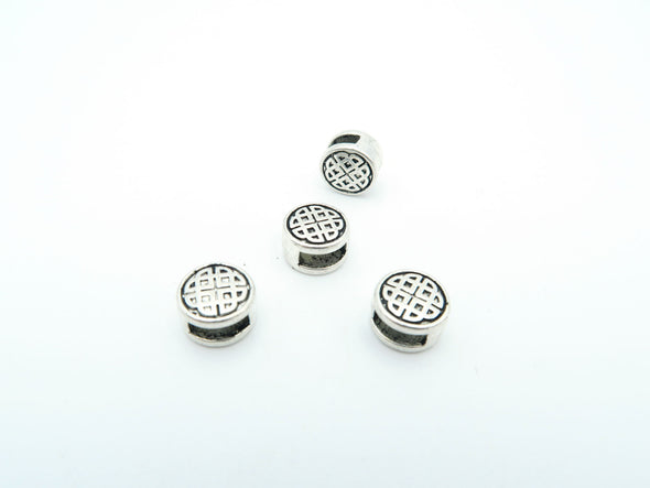 10 Pcs For 5mm flat leather, antique silver around jewelry supplies jewelry finding D-1-5-2