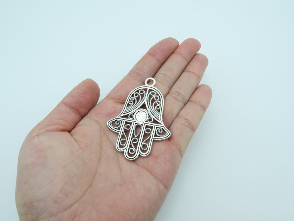 10pcs antique silver fatima hand pendants jewelry supplies jewelry 10pcs antique silver fatima hand pendants jewelry supplies jewelry finding d 3 12 mozeypictures