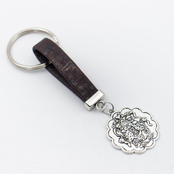 Buddha pendant Simple style colorful cork handmade  keychain  I-055