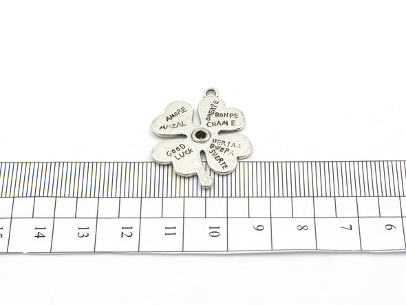 10 Pcs Antique Silver Clover pendant  jewelry supplies jewelry finding D-3-48