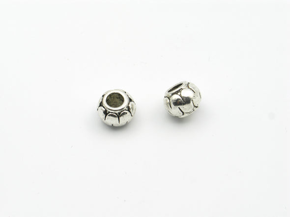 20 Pcs for 5mm round leather Antique Silver round beads , jewelry supplies jewelry finding D-5-5-32