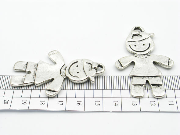 10 Pcs Antique Silver Boy pendant  jewelry supplies jewelry finding D-3-46
