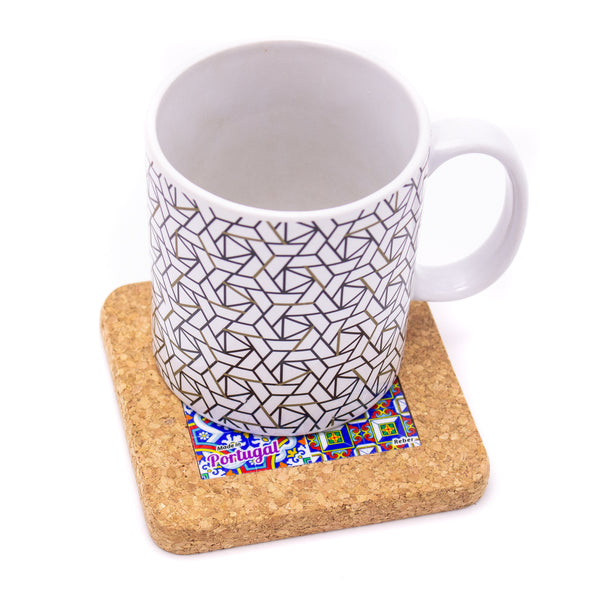 Cork with ceramic  table coasters L-517