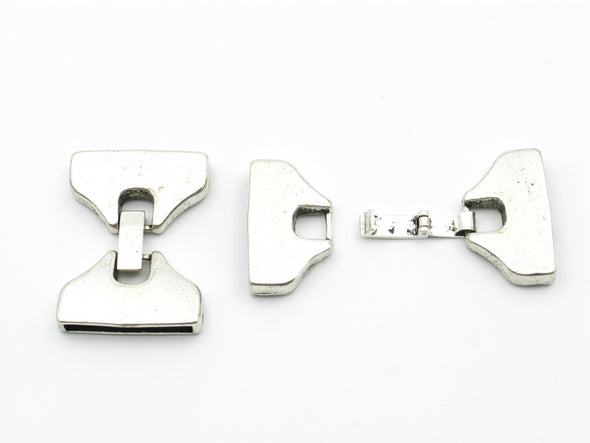 10Pcs for 25mm flat leather snap clasp, antique silver, jewelry supplies jewelry finding D-6-38