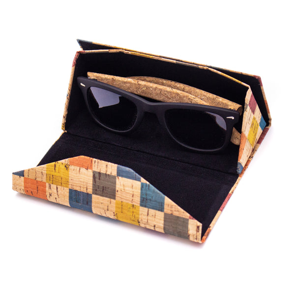 10units Cork hard case for sunglasses / reading glasses L-519