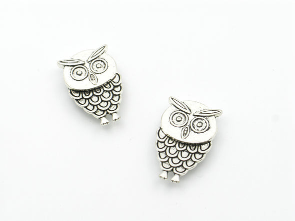 10pcs For 10mm flat leather Antique Silver OWL Slider jewelry supplies jewelry finding D-1-10-109