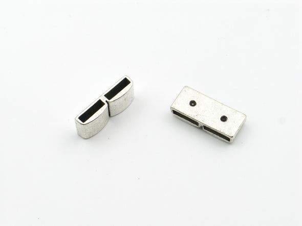 10pcs For 10mm flat leather Antique Silver straight Slider jewelry supplies jewelry finding D-1-10-110