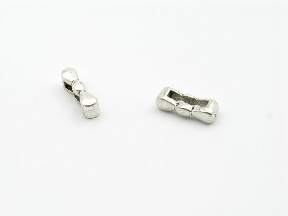 20pcs For 10mm flat leather Antique Silver Tie Slider jewelry supplies jewelry finding D-1-10-108