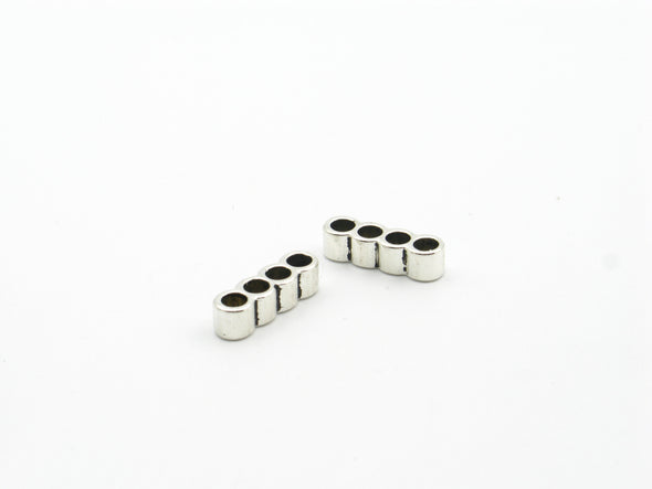 20 Pcs for 3mm round leather Antique Silver 4 stand together jewelry supplies jewelry finding D-5-3-13