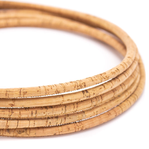 10 meters rustic natural 6mm round cork cord COR-420