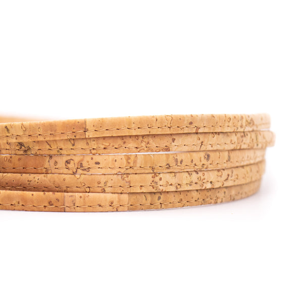 10meter Natural 5mm flat cork cord COR-419