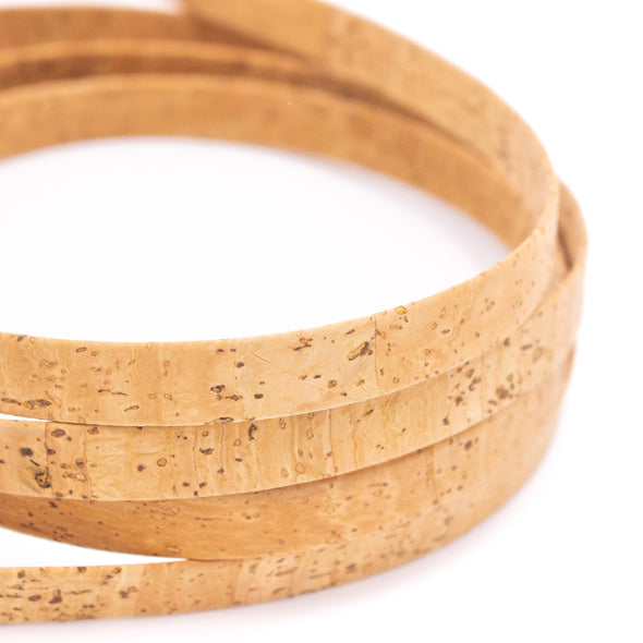 10Meters 12mm flat cork cord for bag supply and Jewelry COR-526