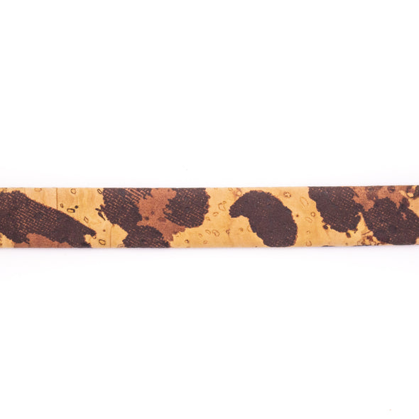 10 meters Leopardo 10mm flat cork cord COR-439
